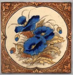 Victorian Polychrome Ceramic Tile