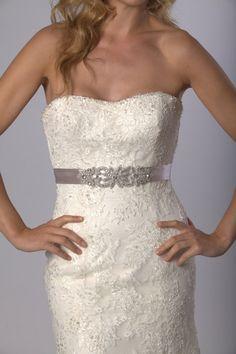 Rhinestone wedding dress belt/bridesmaid sash by sarahhancock123, $89.00