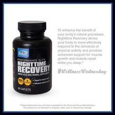 Support your muscles while you sleep with nighttime recovery. Click image for additional information