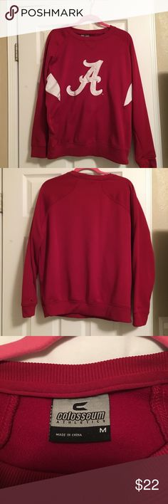 Roll Tide Sweatshirt. Alabama sweatshirt red. Size M Colosseum Tops Sweatshirts & Hoodies