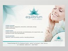 equilibrium spa encargó refrescar el diseño de su logotipo y algunas aplicaciones como tarjetas de presentación y flyers. House Of Beauty, Name Cards, Beauty Skin, Reiki, Banner, Graphic Design, Gd, Flyers, Mockup