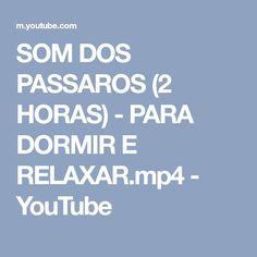 SOM DOS PASSAROS (2 HORAS) - PARA DORMIR E RELAXAR.mp4 - YouTube