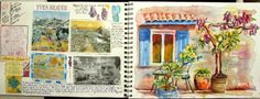 A Peek Inside my Watercolor Art Journal, Journaling
