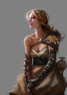 Digital art girl warrior science fiction 63 Ideas for 2019 Fantasy Art Warrior, 3d Fantasy, Fantasy Women, Medieval Fantasy, Fantasy Girl, Fantasy Artwork, Fantasy Images, Fantasy Portraits, Character Portraits