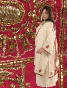 Plus Size Formal Evening Kimono Coat Beaded Sari Silk Fuschia Ivory Gold Calf-Length Kimono Ivory Fuschia Jeweled Sari Silk Wearable Art 1379 Sizes 30 - 34 mother of the bride, special occasion, elegant, Day To Night Outfits, Evening Outfits, Mother Of The Bride Jackets, Dressy Jackets, Plus Size Kimono, Kimono Coat, Formal Dresses With Sleeves, Plus Size Formal, Unique Clothes For Women