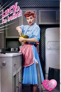 I grew up watching Lucille Ball in I Love Lucy with my parents just about every night as a kid. They had it on vhs and we'd snuggle up and laugh together <3 Miss those days!