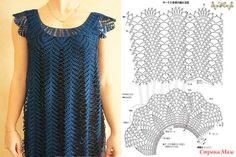 Fabulous Crochet a Little Black Crochet Dress Ideas. Georgeous Crochet a Little Black Crochet Dress Ideas. Crochet Diy, Crochet Jacket, Crochet Woman, Thread Crochet, Crochet Cardigan, Knit Dress, Crochet Collar, Crochet Clothes, Pulls