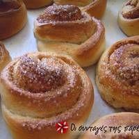 Νορβηγικά τσουρεκάκια (Skillingsboller) Sweet Buns, Sweet Pie, Sweet Bread, Sweets Recipes, Cake Recipes, Cooking Recipes, Greek Desserts, Greek Recipes, Sweet And Salty