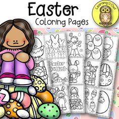 Easter Coloring Pages Freebie!