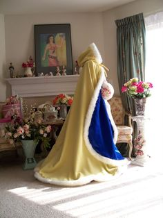 Belle & Prince Bridal cape 65inch Yellow Canary by capeandcrown13, $170.00