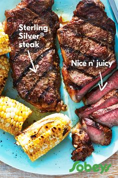 Juicy Sterling Silver® strip loin is perfect for summertime grilling. Cut from the short loin, it offers a satisfying, incredibly tender texture and robust flavour. Small Food Processor, Food Processor Recipes, Strip Loin Steak Recipe, Steak Recipes, Cooking Recipes, Good Food, Yummy Food, Healthy Food, One Person Meals