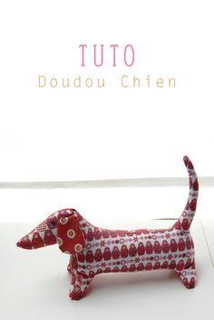 Pitty -  dog blanket tutorial -  http://dansmonbocal.com/2013/05/17/tutoriel-kaki-le-petit-teckel/