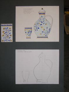 academic work, a draft set of glassware for beverages, Odessa Art School, 2008