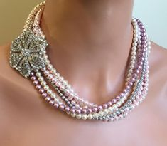 PO1 PINK LOVE OVAL CLUSTER BEAD WATERFALL NECKLACE /& EARRINGS SET FREE UK POST