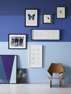 stripes, blue, chair, frame...