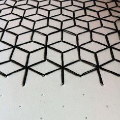 #manufakturfink #textildesign #stellwerk #pattern #stich #yarn #cube Cube, Instagram Posts, Pattern, Textile Design, Patterns, Model
