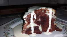 """Red Velvet Cheesecake Brownies - """"I slightly over cooked mine on the outside but it still came out tasting amazing with a gooey center. I added double cream when serving everyone loved it. The only thing I have to add is don't bother with the food colouring, I added it in mine and it still came out brown rather than velvet red."""" @allthecooks #recipe"""