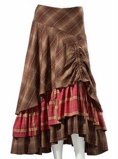 Длинная юбка в клетку 288 nora - Магазин женской одежды. www.set2.ru/?c...