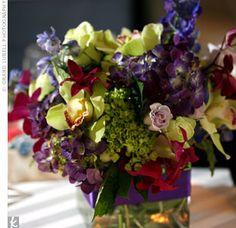 Jewel tone flowers