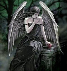 Art by Anne Stokes (Ironshod) Lost Soul * Angel Fantasy Myth Mythical Mystical Legend Wings Feathers Faith Valkyrie Odin God Norse Death Dark Light Engel d'ange di angelo de Ángel Ангел anděl wróżka de anjo angyal Anne Stokes, Dark Angels, Angels And Demons, Fallen Angels, Gothic Angel, Gothic Fairy, Gothic Fantasy Art, Luis Royo, Ange Demon