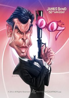 Pierce Brosnan's James Bond by Anthony Geoffroy (France)