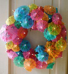 Thrifty Tropical Summer Wreath