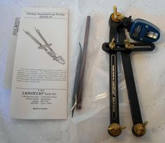 Vintage 1994  VERITAS Transfer Log Scribe Woodworking Tool Canada Compass