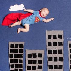@Diane Z Dee Dabb creative baby photography - Google Search Soo cute, maybe we can google batman scenes lol