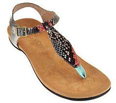 d0447072475 Vionic Orthotic T-strap Sandals w  Adj. Ankle Straps - Paden