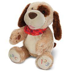 The ABC Singing Animated Plush Puppy - Hammacher Schlemmer