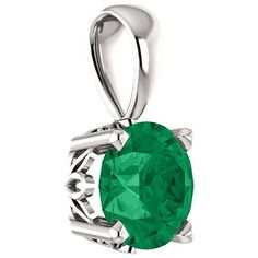 Rain-Forest Green Topaz Swarovski Solitaire Pendant, 14K White Gold ($225) ❤ liked on Polyvore featuring jewelry, pendants, sterling silver jewelry, charm pendant, sterling silver pendants, sterling silver charms pendants and pendant jewelry