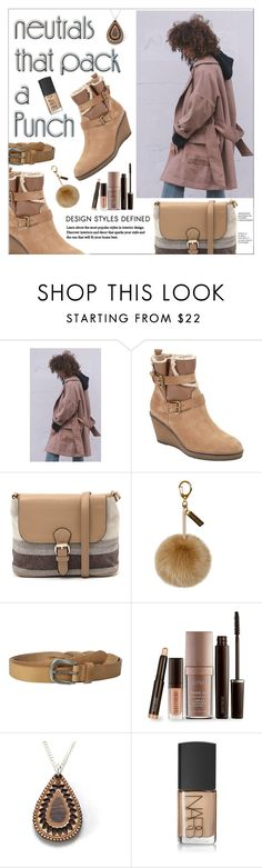 """Neutrals"" by shambala-379 ❤ liked on Polyvore featuring House of Sunny, John Lewis, Jendi, Helen Moore, Liebeskind, Laura Mercier, Anisha Parmar London, NARS Cosmetics and neutrals"