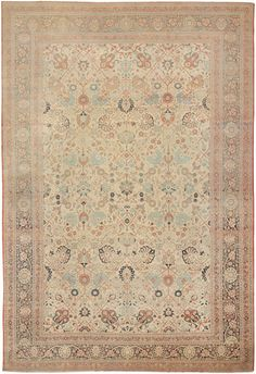 Antique Tabriz Persian Rug 44645 Detail/Large View - By Nazmiyal