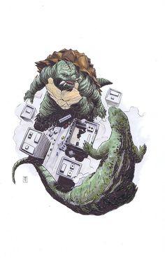 Gamera vs. Godzilla by Ibrahim Moustafa