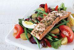 Saumon grillé sur salade niçoise #bbq #santé