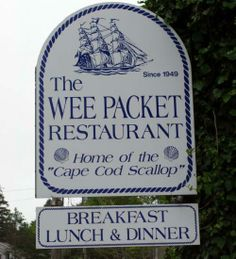 The Wee Packet, Dennisport MA  a place  where our family would eat when i was little.