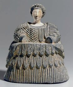 A Bactrian composite stone female figure from Bactria-Margiana, circa late - early millennium BC. It was made from the mineral chlorite, high. Sold at Christie's New York in 2010 for dollars. Ceramic Figures, Ceramic Art, Ancient History, Art History, Ancient Goddesses, Art Tribal, Art Premier, Art Sculpture, Sumerian