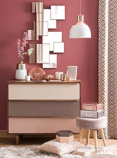 11 Cool Pink Bedroom Ideas That Can be Pretty - All Bedroom Design Home And Deco, Trendy Bedroom, Dream Decor, My New Room, Wall Colors, Paint Colors, Home Decor Inspiration, Color Inspiration, Bedroom Decor