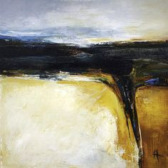 Artwork. 'Black Gold'. Abstract Oil Painting on Board. 30cms x 30cms. Black Gold being another name for the once rich coal seams of South Wales.