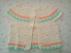 Saquito sin mangas Sweet, tejido a crochet