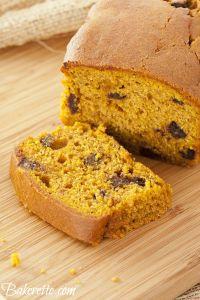 Pumpkin Chocolate Chip Bread Recipe by Bakerette.com