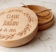 Ring bearer box, personalized ring box, rustic wedding ring bearer box, ring bearer pillow, wooden ring box, custom engraved ring bearer box