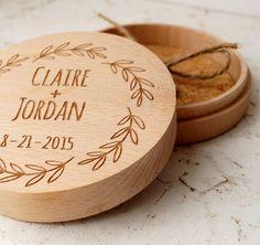 Ring bearer box, personalized ring box, rustic wedding ring bearer box, ring bearer pillow, wooden ring box, custom engraved ring bearer box