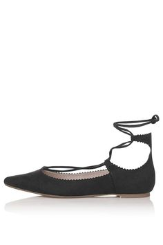 FINEST Ghillie Lace Up Flats