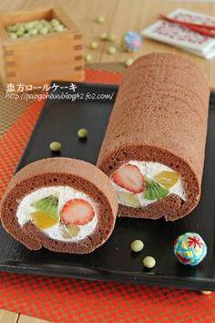 「恵方巻きに!フルーツロールケーキ」ぱお | お菓子・パンのレシピや作り方【corecle*コレクル】