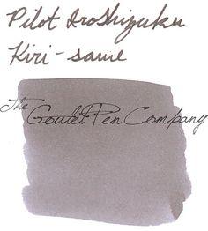 A 2ml sample of Pilot Iroshizuku Kiri-same (Autumn Shower) fountain pen ink, in a labeled plastic vial.