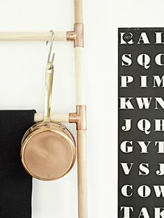 DIY your own trendy and stylish copper ladder.