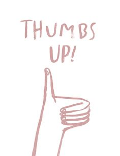 Thumbs Up! print merrileeliddiardshop.com