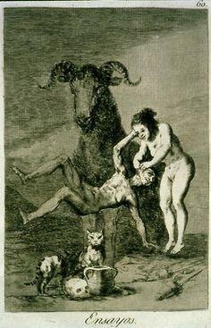From  Goya's Los Caprichos print series