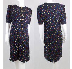 Louis Feraud Polka Dot Vintage Dress